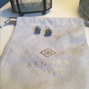 Kendra Scott platinum druzy earrings